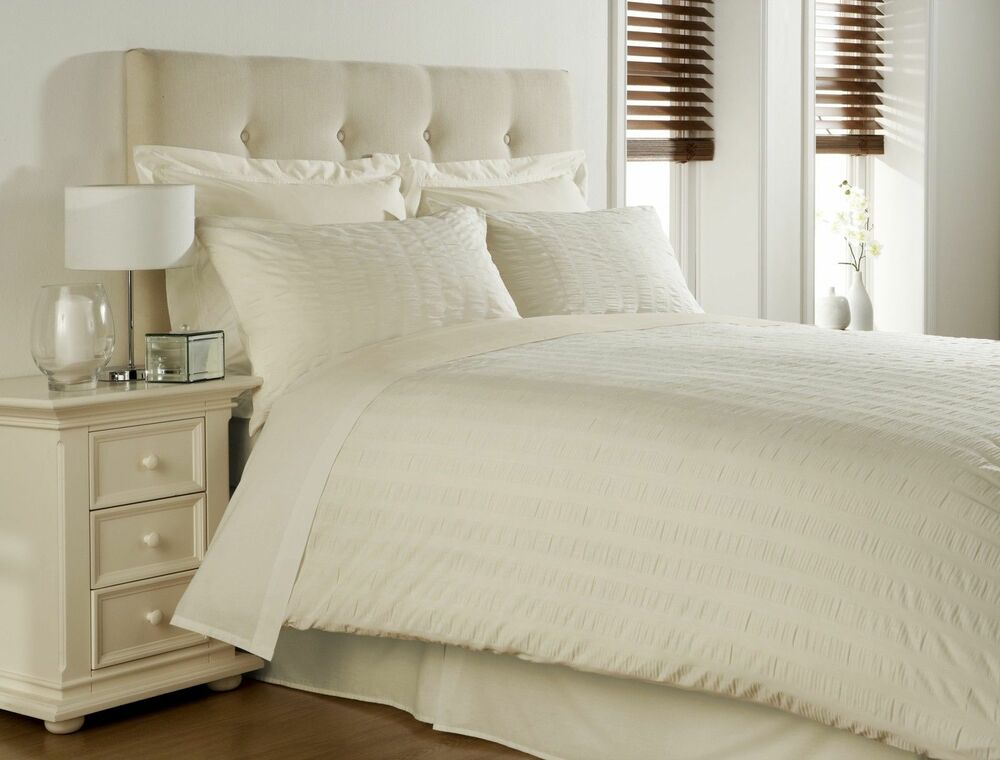 Cream Single Bed Duvet Cover