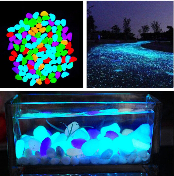 10 Pcs New Colorful Glow In The Dark Stones Pebbles Rock