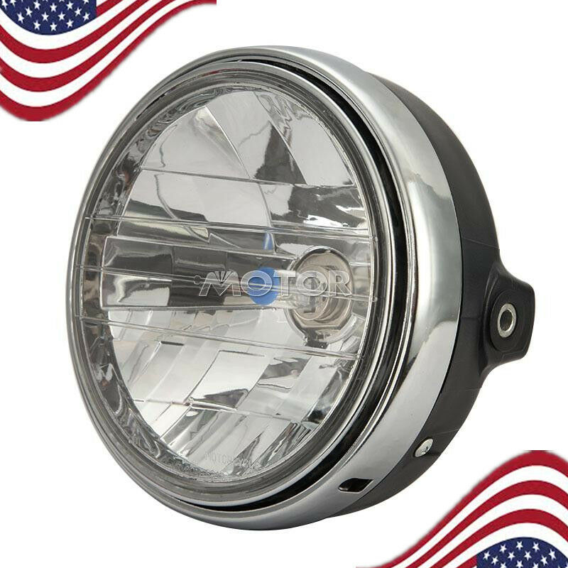 Scooter Headlight Assembly : Motorcycle headlight chrome assembly h for honda hornet