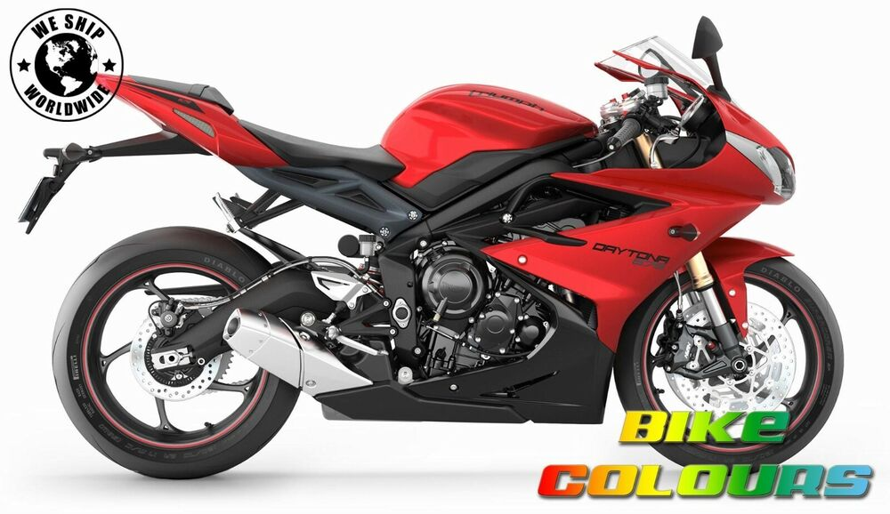 triumph touch up paint daytona 675 r speed triple tiger 1050 diablo red ebay. Black Bedroom Furniture Sets. Home Design Ideas