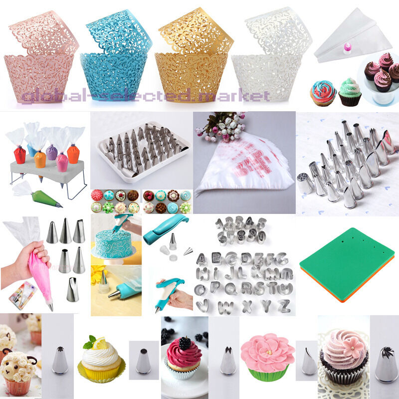 Cake Decorating Techniques Uk : Hot Cake Decorating Tools Two Tone Bags Cupcake Wrappers ...