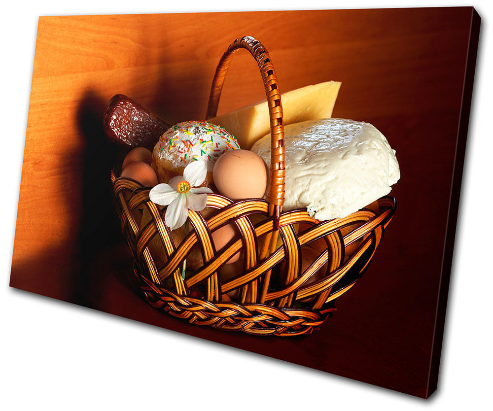 Food Kitchen Bread Cheese SINGLE CANVAS WALL ART Picture