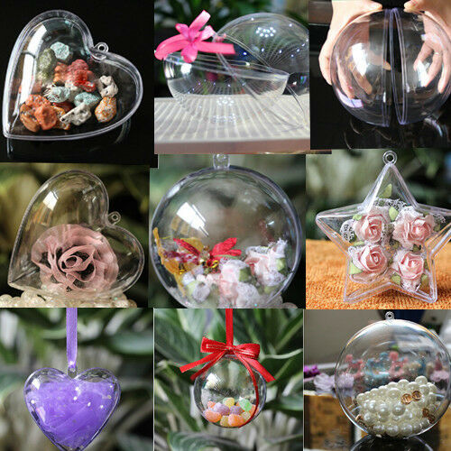 5pcs christmas tree decor ornament ball type box clear for Art for decoration and ornamentation