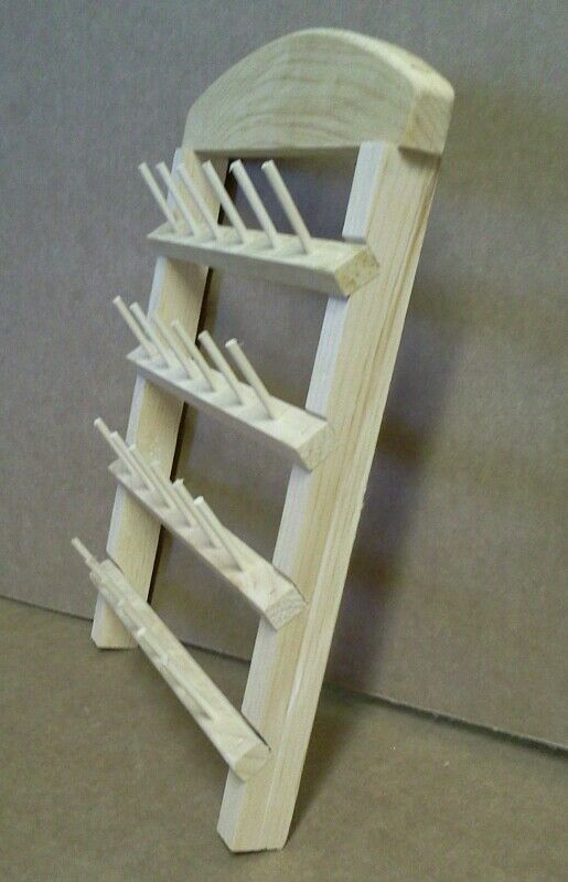 Sewing Thread Rack 24 Spool Holder Unfinished Pine Wood Ebay