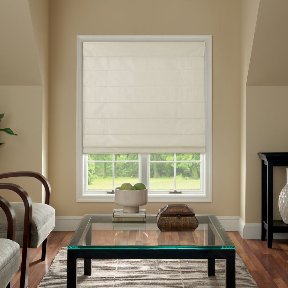 Fabric Blinds And Shades : Cordless fabric roman shades colors sizes ebay