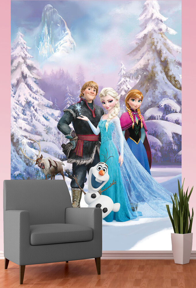 DISNEY FROZEN WALLPAPER MURAL ANNA ELSA SVEN OLAF KIDS ... Disney Frozen Sven Wallpaper