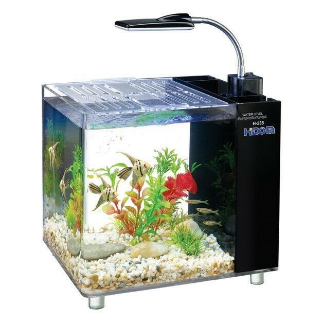 15l aquarium fish tank tropical fresh water with led light for Water softener for fish tank