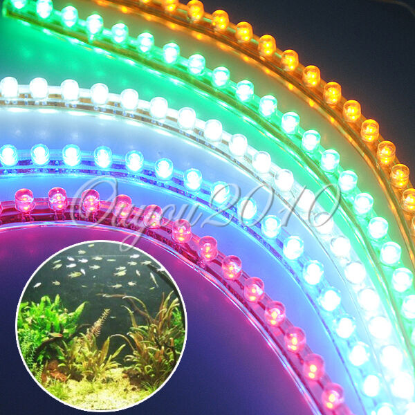 mondlicht 120cm led strip leiste wasserdicht f r aquarium auto beleuchtung fisch ebay. Black Bedroom Furniture Sets. Home Design Ideas