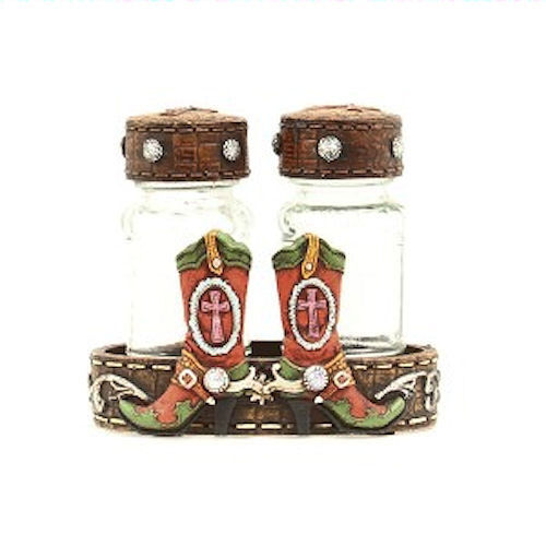 Horse Western Gifts Home Decor Kitchen Dining Salt Pepper Set Western Boots Ebay