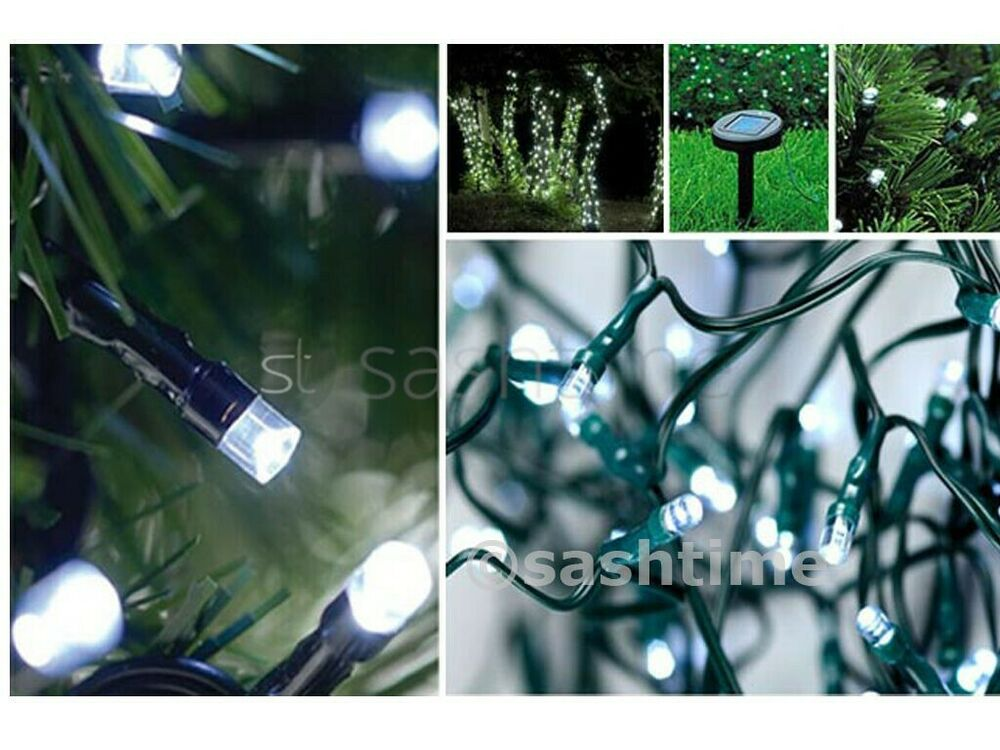 White String Garden Lights : CHRISTMAS 50-500 SOLAR FAIRY STRING WHITE LED GARDEN OUTDOOR PARTY WED LIGHTS eBay