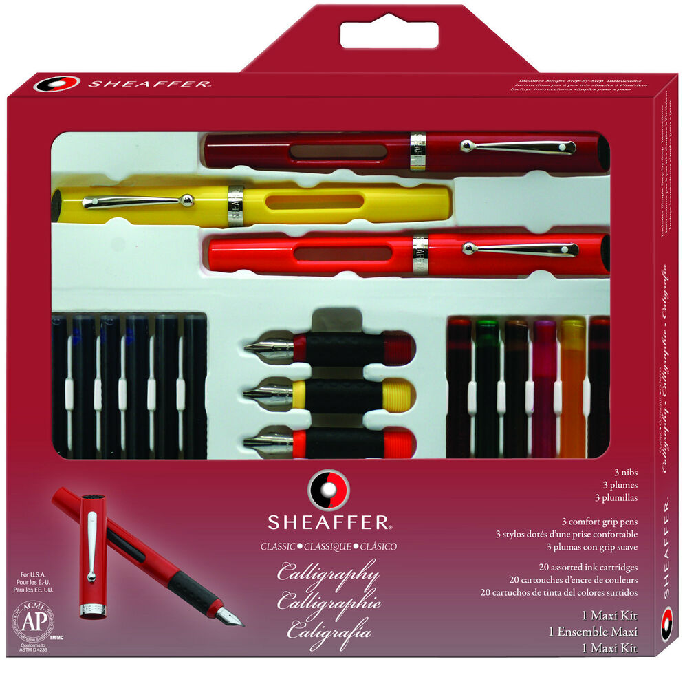 Sheaffer Calligraphy Classic Maxi Kit 3 Pens 20 Ink