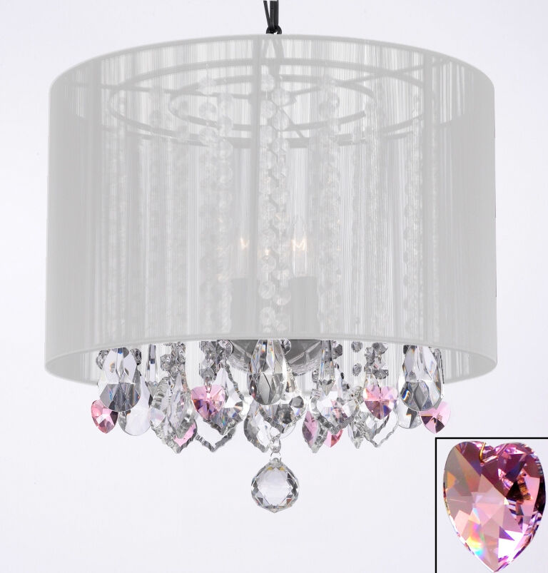 Crystal Chandelier Chandeliers With White Shade and