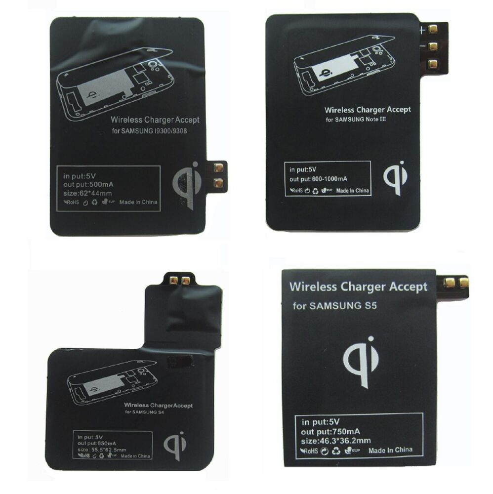 Wireless Charging Kit : Qi wireless charging charger receiver kit for samsung