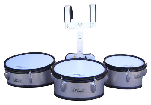 High School Band Marching Tom Drum Trio Set With Harness