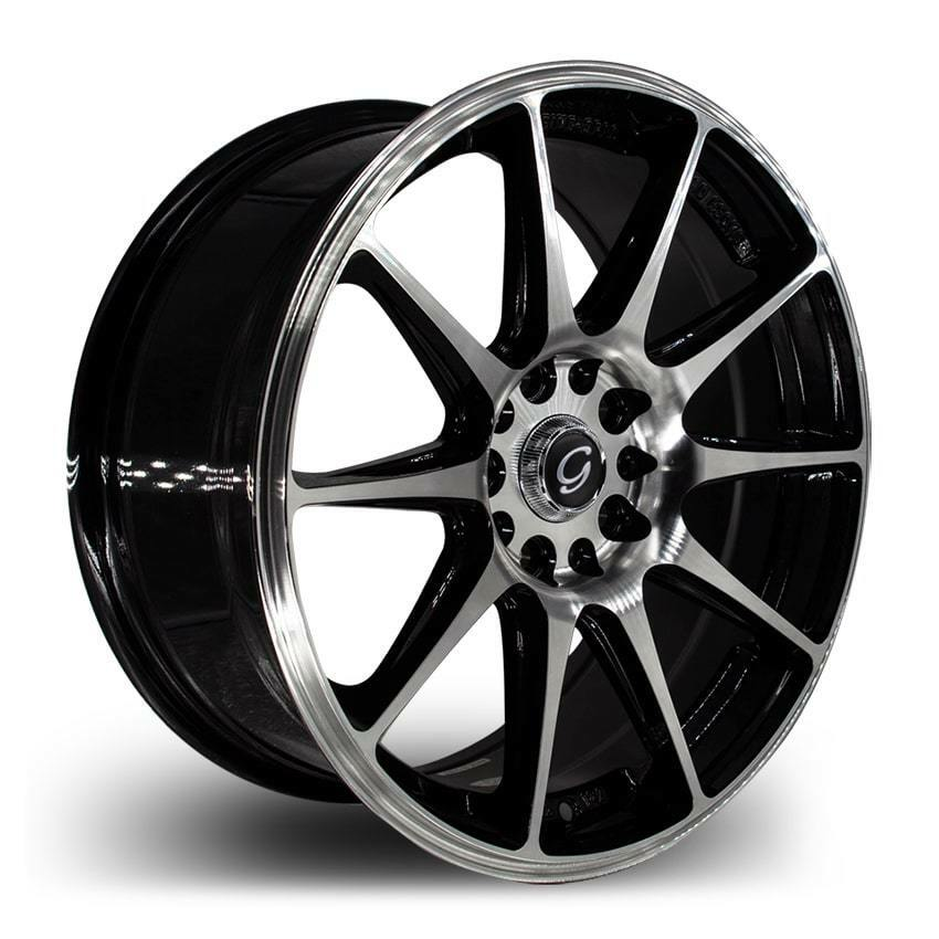 18 inch g line 901 black blue lip wheel rims tires fit 4 x 100 ebay. Black Bedroom Furniture Sets. Home Design Ideas