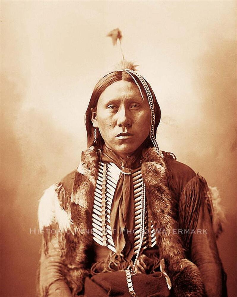COMANCHE BRAVE WARRIOR VINTAGE PHOTO NATIVE AMERICAN1898 ...