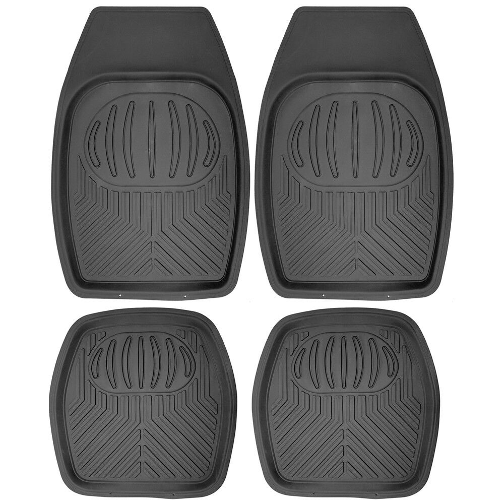 Rubber floor mats toyota camry - Car Floor Mats For Toyota Camry 4pc Set All Weather Rubber Pan Tech Fit Black Ebay