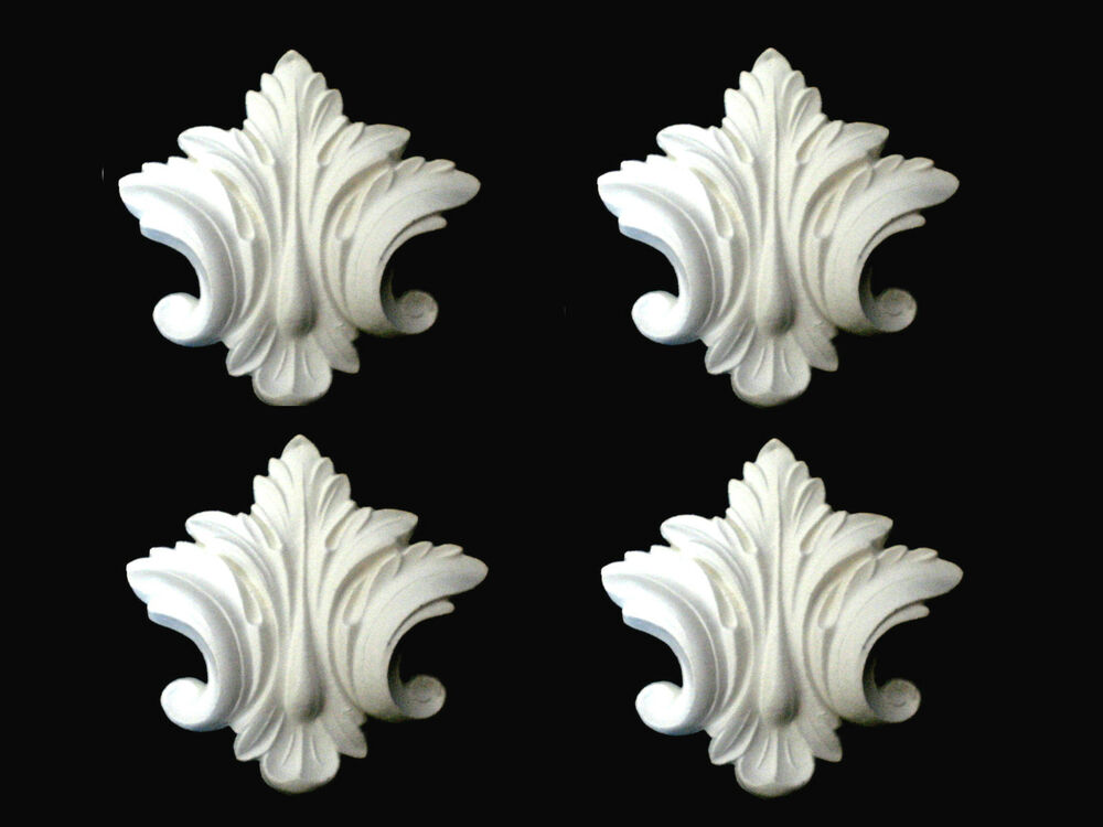 Ornate Architectural Mouldings : Four ornate and decorative furniture mirror mouldings