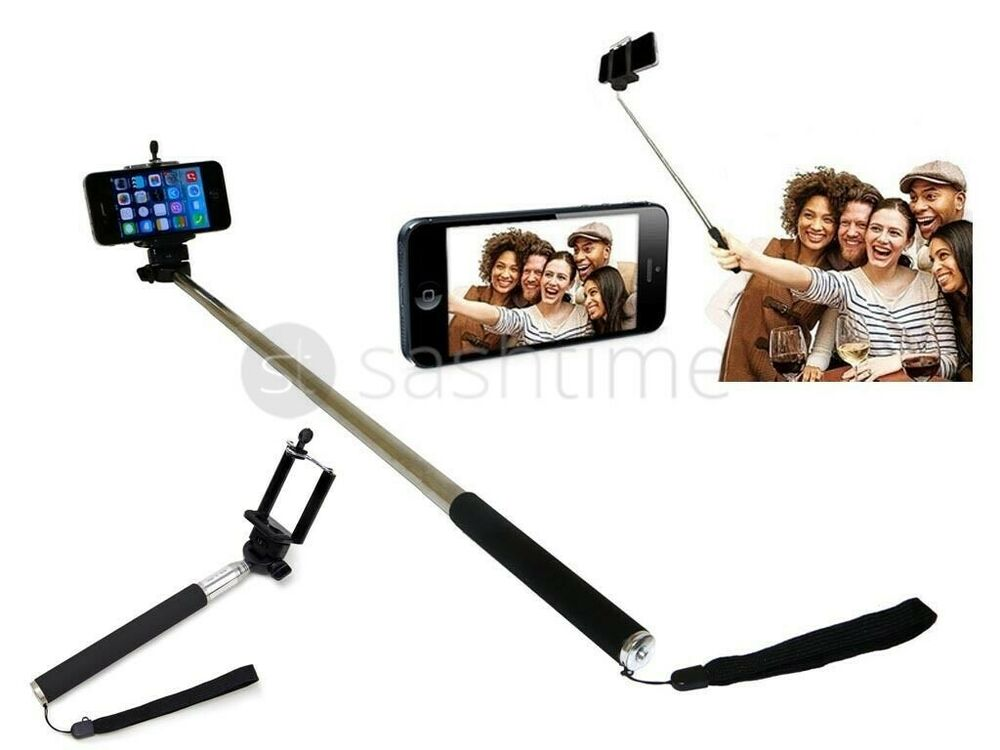 monopod selfie stick telescopic mobile samsung nokia iphone camera handle hol. Black Bedroom Furniture Sets. Home Design Ideas