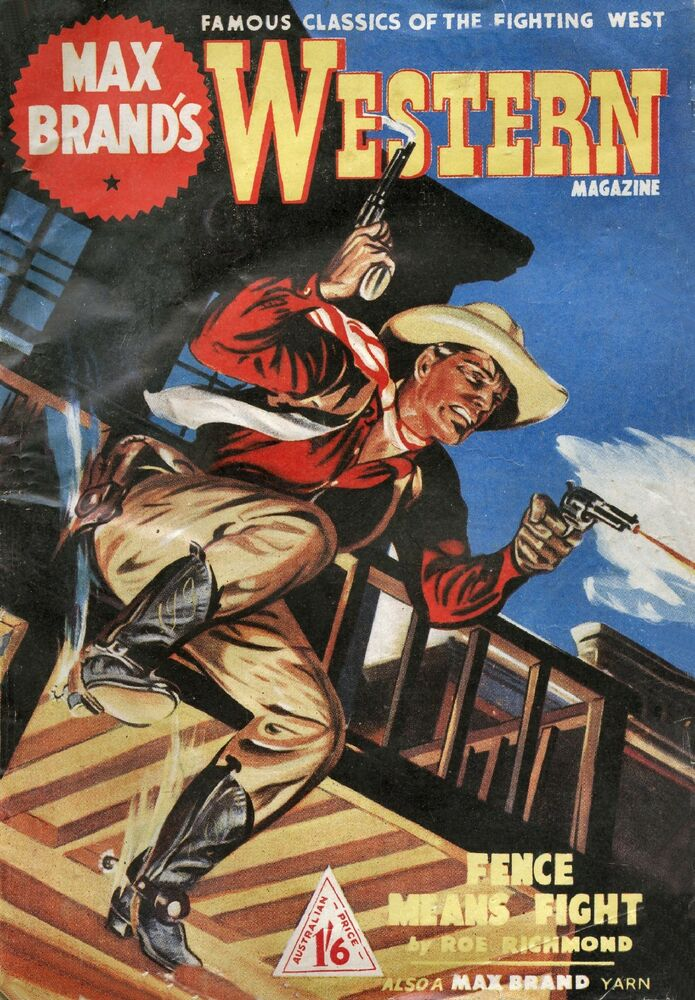 Western Book Cover Art ~ Max brand vintage cowboy western comic book cover