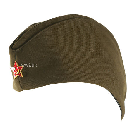 img-WWII USSR SOVIET MILITARY ARMY GARRISON CAP WITH BADGE M-35381