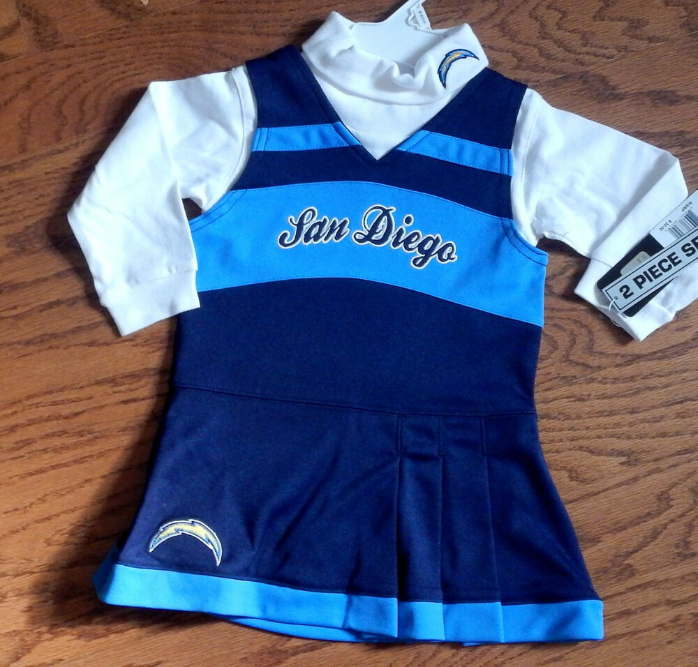 San Diego Chargers Baby Clothes: San Diego Chargers Infant Size Two Piece Cheerleader