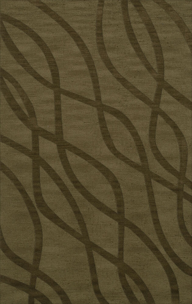 Dalyn abstract green swirls waves lines stripes wool hand for What size rug for 12x12 room