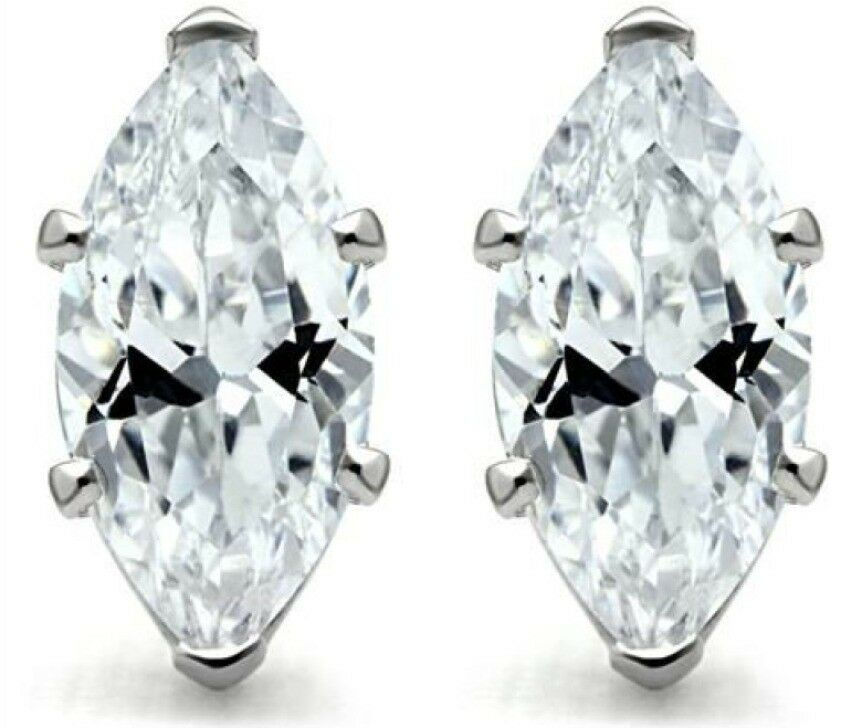 Marquis cz stud earrings sterling silver birthstones best for New top jewelry nyc prices