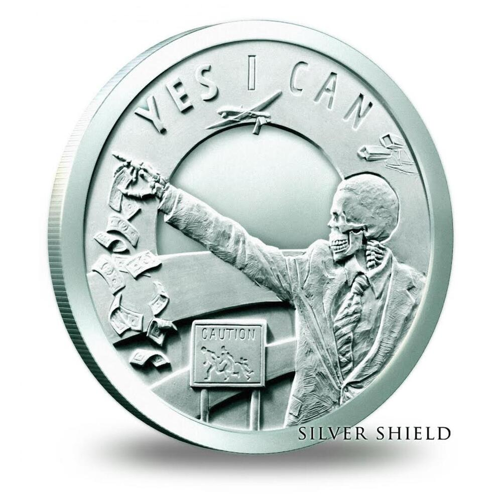 1 Oz Silver Coin Seven Sins Of Obama Yes I Can Trivium