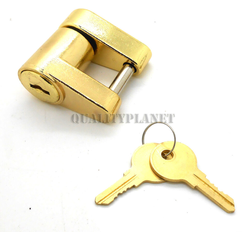 Boat Trailer Locking Pin : New quot brass trailer boat rv coupler lock hitch