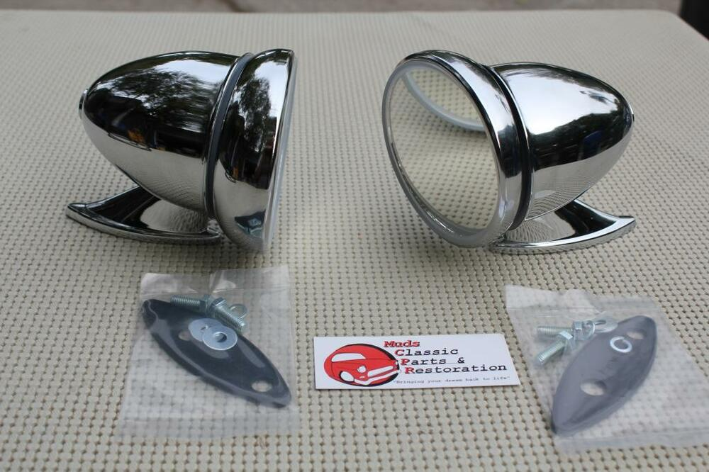 Gt Style Chrome Race Bullet Outside Sports Mirrors Hot Rat