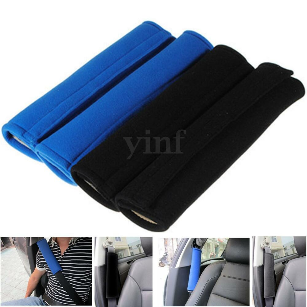 2pcs seat belt pad harness car safety shoulder strap bag backpack cushion cover ebay. Black Bedroom Furniture Sets. Home Design Ideas