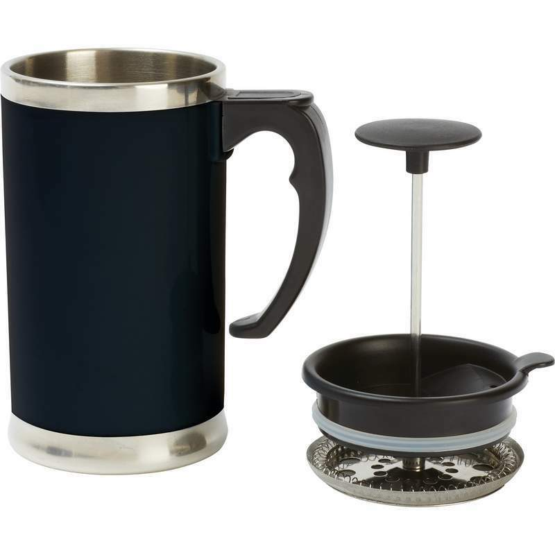 Coffee Maker That Fits Travel Mug : 21oz Stainless Steel Double Wall French Press Coffee Tea Maker Travel Mug Cup eBay