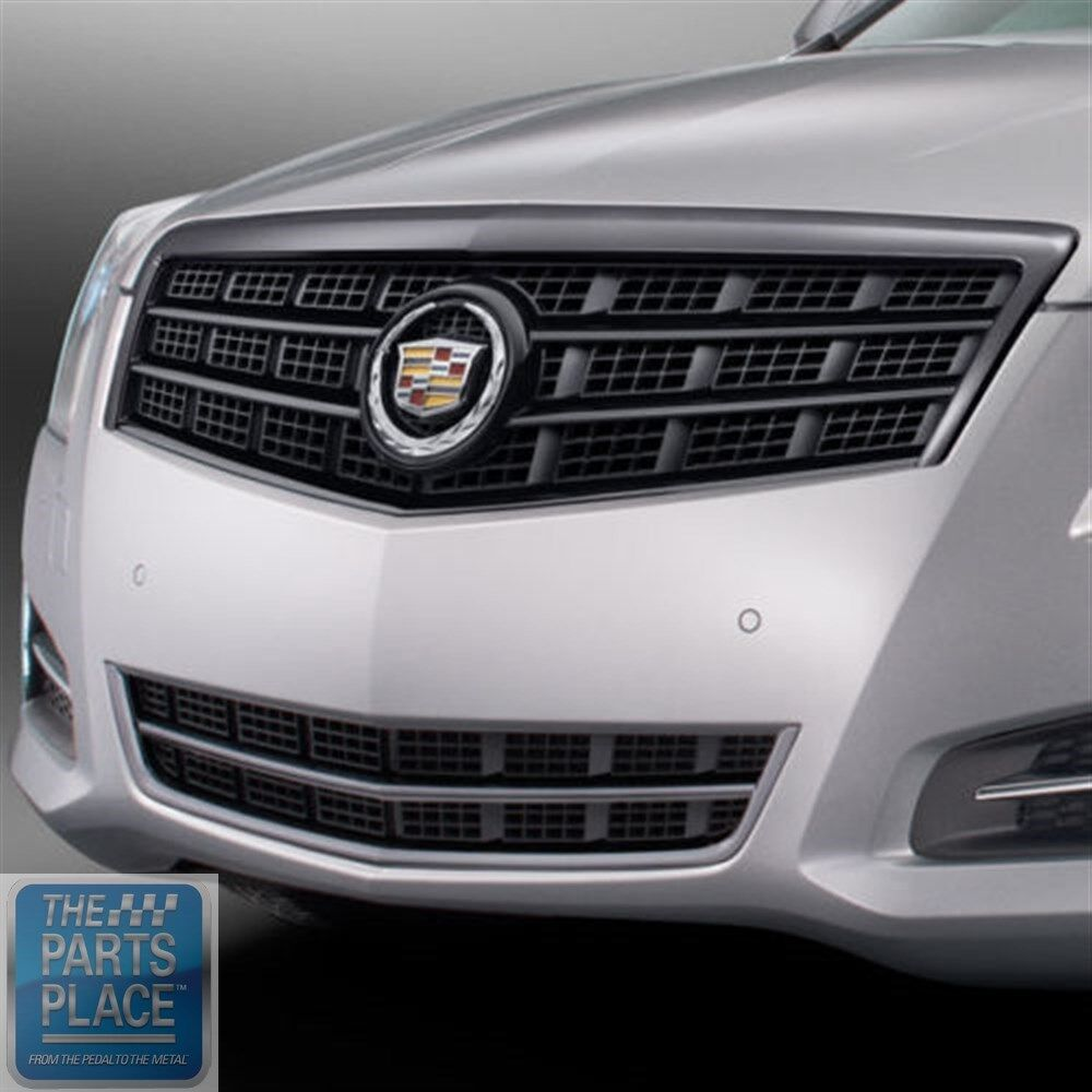 14 Cadillac Ats: 2013-15 Cadillac ATS Black Chrome Grille - Upper And Lower - GM 22943164