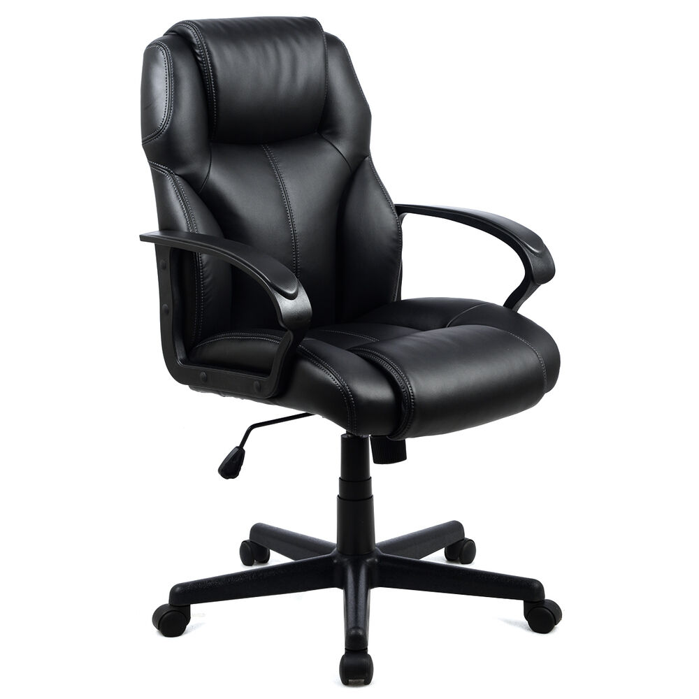 Executive Office Furniture: PU Leather Ergonomic High Back Executive Computer Desk