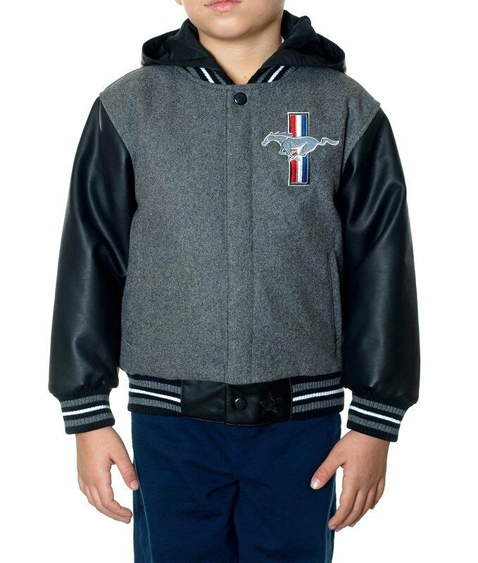 Ford Mustang Shoes >> Ford Mustang Jacket Reversible Nylon Wool Hooded Faux ...