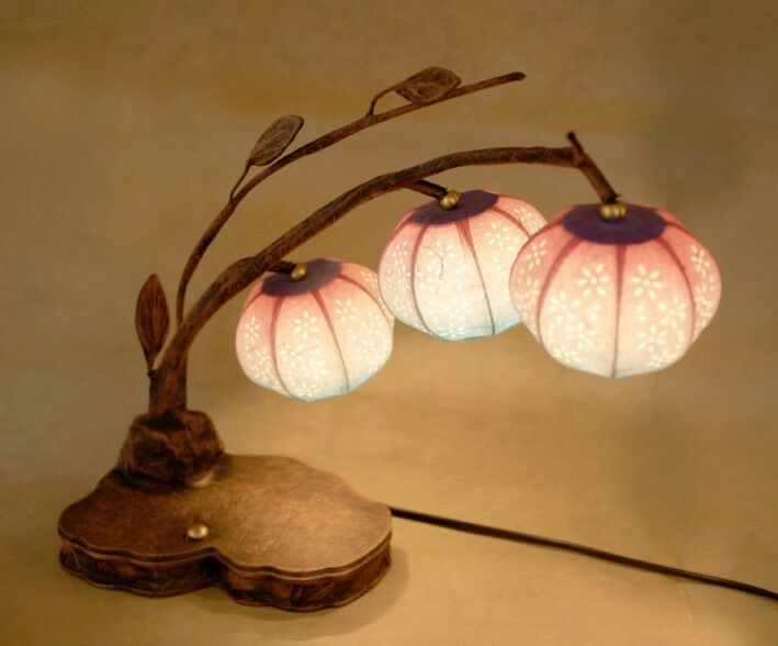 Finishing Touches Art Deco Lighting: Paper Shade Lantern Table Decor Accent Bedroom Bedside