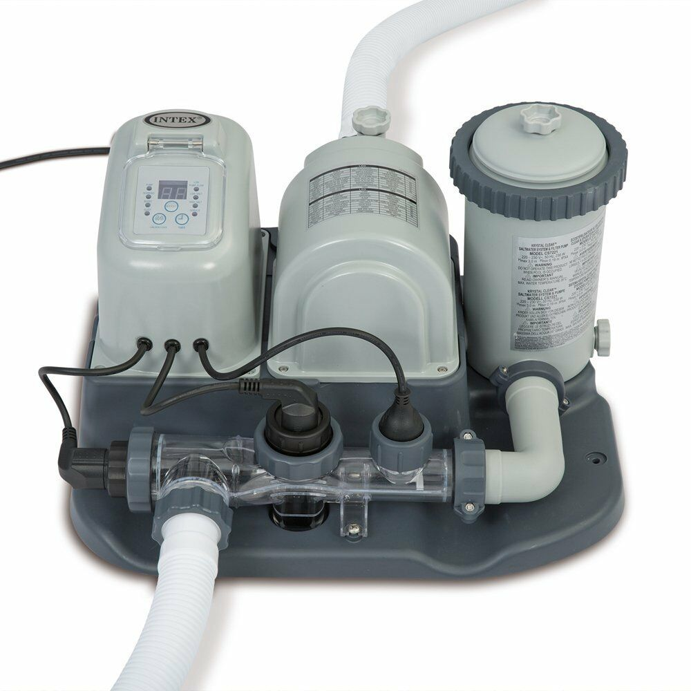Intex 120v Krystal Clear Saltwater System Pool Chlorinator Filter Pump Ebay
