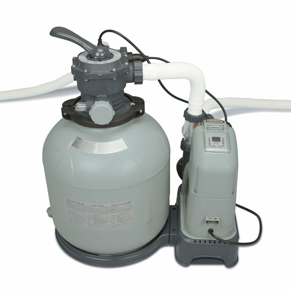 Intex 2650 Gph Saltwater System Sand Filter Pump Swimming Pool Set 28679eg Ebay