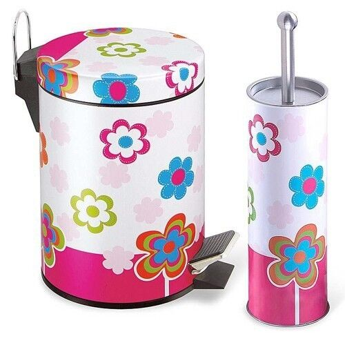 Stainless Steel Bathroom Waste Basket Trash Can and Toilet ...
