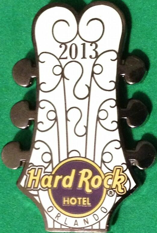hard rock hotel orlando 2013 guitar head pin with wrought iron gate pattern new ebay. Black Bedroom Furniture Sets. Home Design Ideas