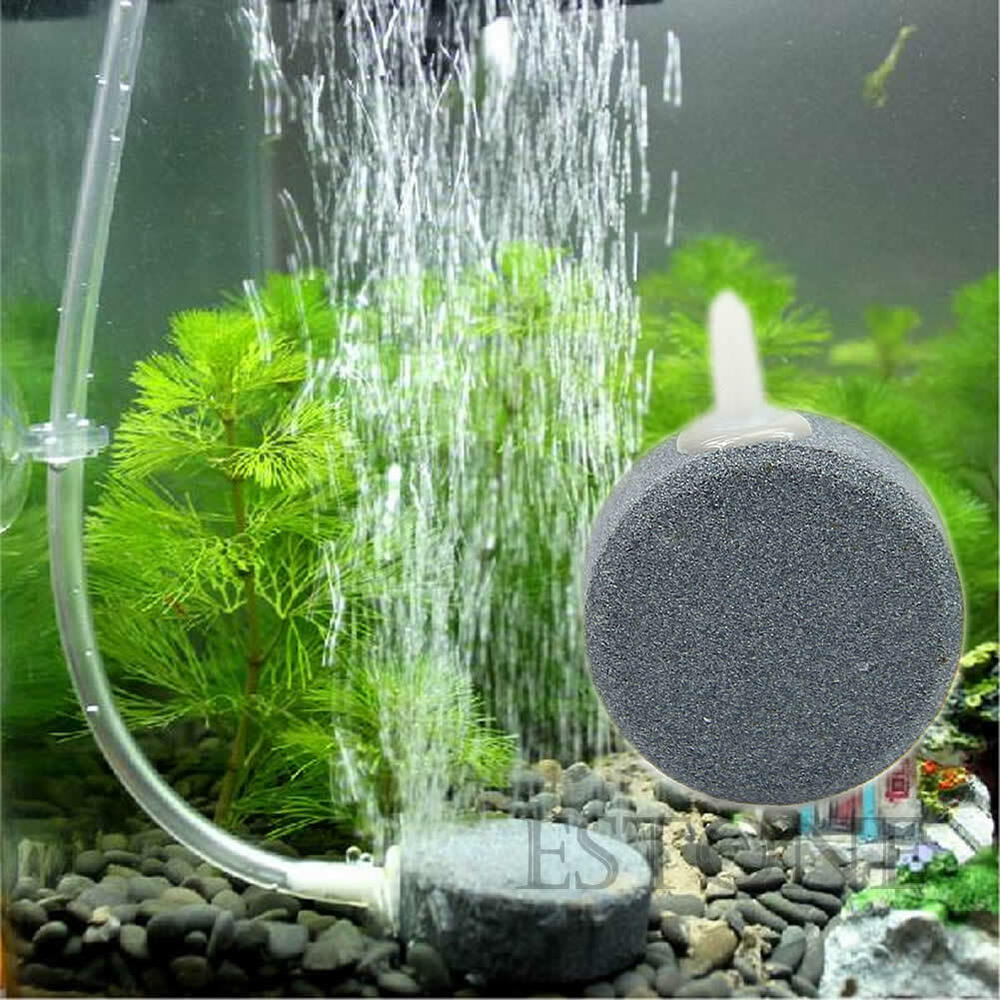 New 4cm disc hydroponics diffuser bubble airstone aquarium for Hydroponic fish tank