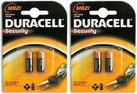 Duracell A23 MN21 LRV08 K23A Alkaline Cell Battery Batteries 12V x 4 Packs Value