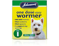 Johnsons One Dose Easy Wormer Tablet Worming Small Dogs Value Upto 6kg Size 1