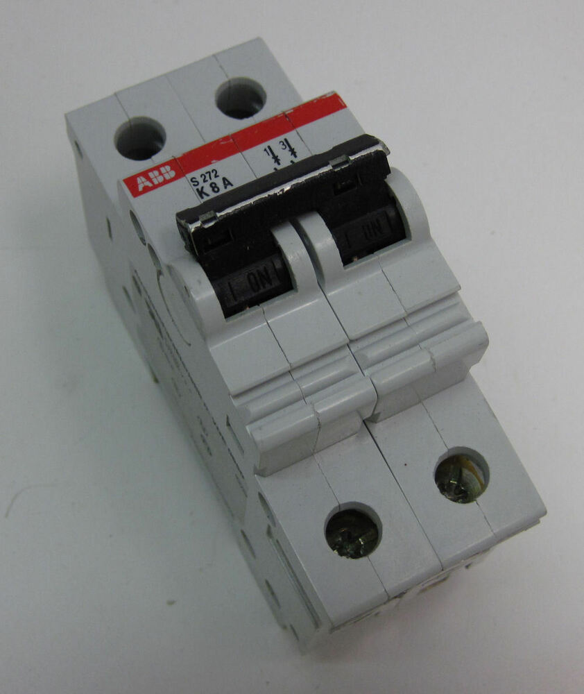 Abb Mini Circuit Breaker Type K Two Pole 8a S272 K8 Ebay