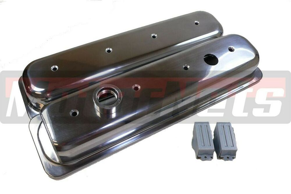 Sbc Lt1 Camaro Impala Polished Aluminum Valve Covers 350