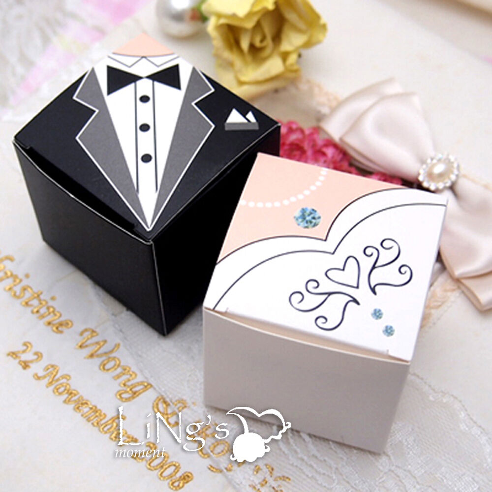 Wedding Party Gifts For Groom : & Groom Tuxedo Dress Decoration Wedding Favor Gift Candy Box Wedding ...