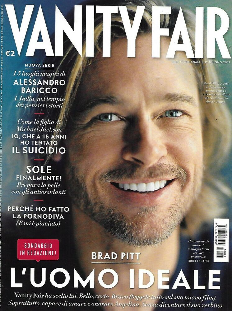 Vanity Fair Magazine Brad Pitt Sasha Gray Kit Harrington Tina Turner ...