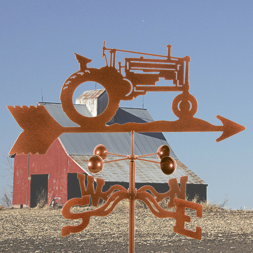 Vintage Weather Vane: John Deere Tractor Weathervane