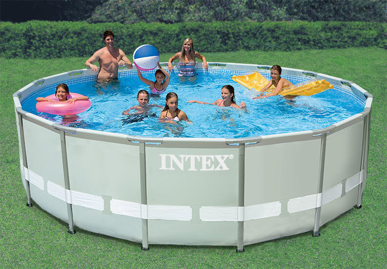 intex 16 39 x 48 ultra frame swimming pool set w 1200 gal saltwater system combo ebay. Black Bedroom Furniture Sets. Home Design Ideas
